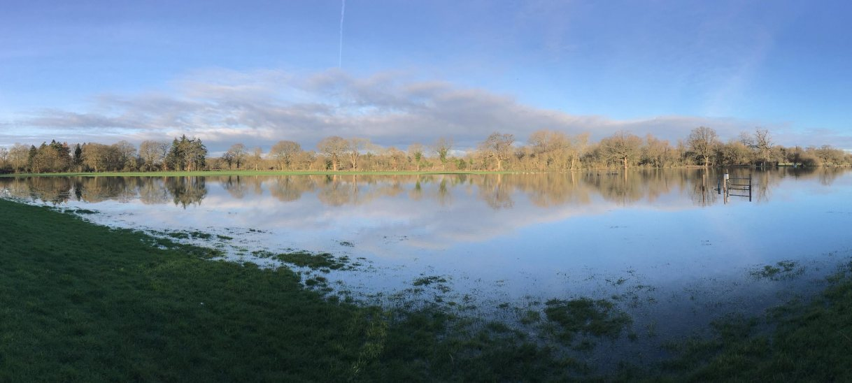 The Loddon has flooded…